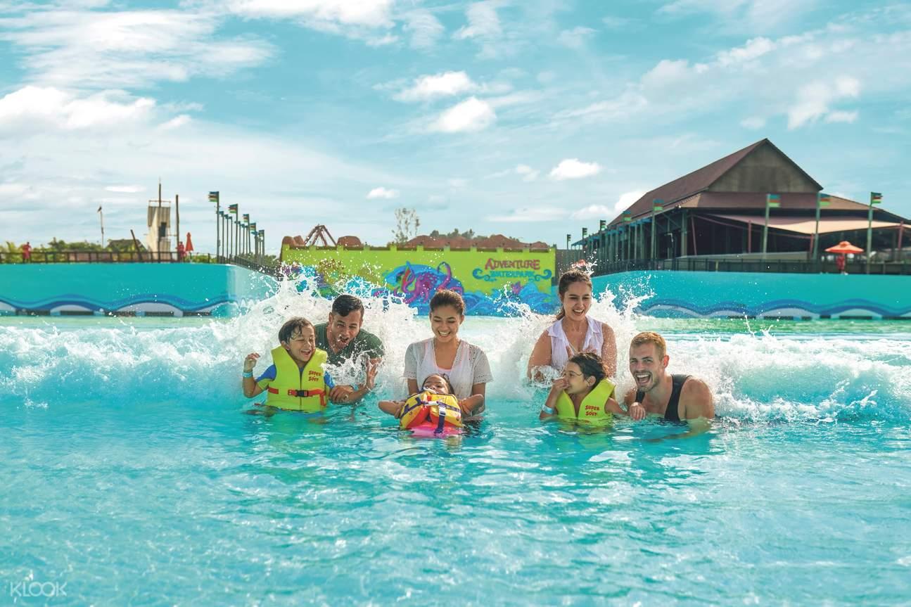 Man-made waves pool